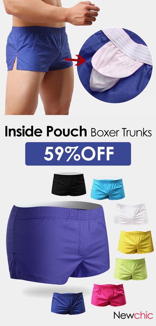 560e6a0010f3 【US$ 8.99】Arrow Pants Casual Home Low Waist Cotton Inside Pouch Breathable  Boxers for Men