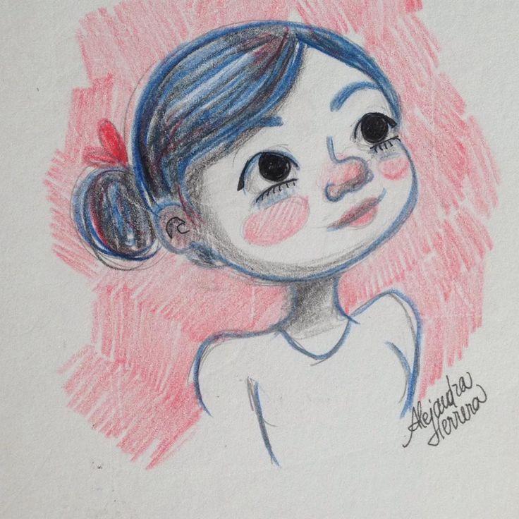 dibujo de una chica. Drawing of a girl. Prismacolor. Alejandra Herrera. click the link! https://www.instagram.com/alejandra_herrera_illustration/ #drawing #comic #illustration #dibujo #ilustracion