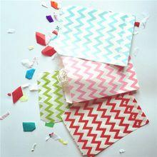 Fontes do partido do evento 5 * 7 polegada 50 pçs/lote Chevron Porpcorn Treat Favor saco de papel Kraft sacos de presente Coodie para decoração(China (Mainland))