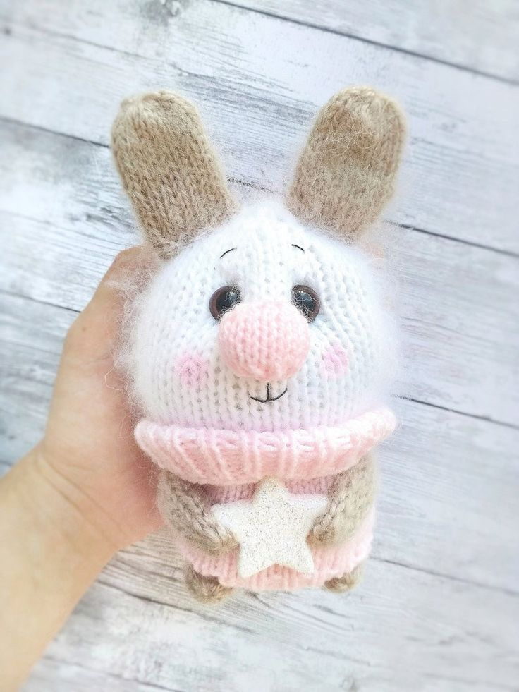 Amigurumi toy bunny Knit stuff animal Bunny plush Bunny doll toy Soft kids toy White bunny Crochet bunny Rabbit toy Stuffed animal bunny