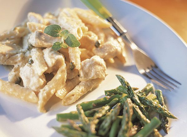 Lemon Chicken Pasta With Asparagus Tips Recipe from #PublixAprons