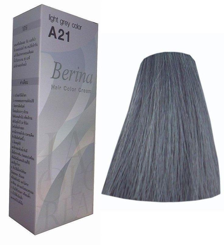 Berina A21 Grau Hellgrau Permanente Haarfärbung Top Qualität kleiner Preis
