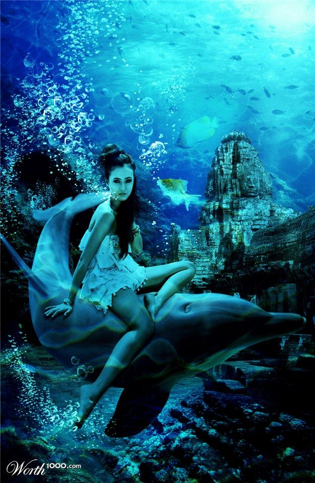 moroccan style living room decor diy makeover xoo photo :: underwater beauty on dolphin - girl ...
