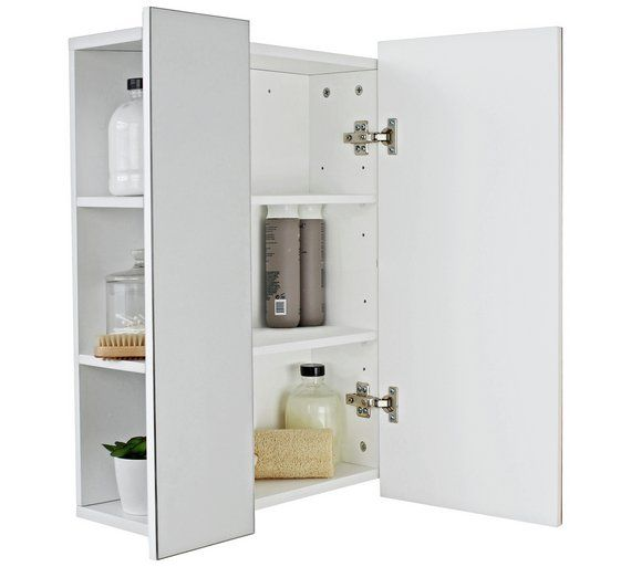 Buy Argos Home Side Storage Mirrored Cabinet White Bathroom