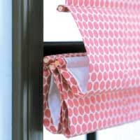 DIY Roman Shade-- so much better than tearing apart blinds.