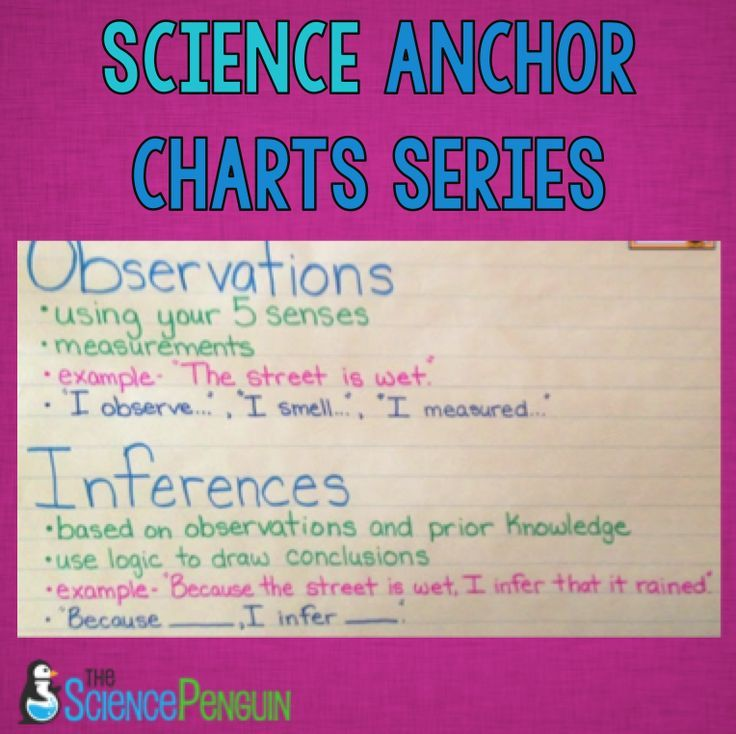 Science Process Skills Anchor Charts — The Science Penguin