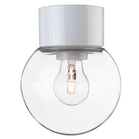 Ifö Electric Classic Glob Vit/Klar Ip54 Taklampa