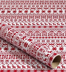 Marks & Spencer Scandinavian Print Wrapping Paper want to find something similar for next year!