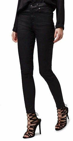 Black Moto Coated Jeans