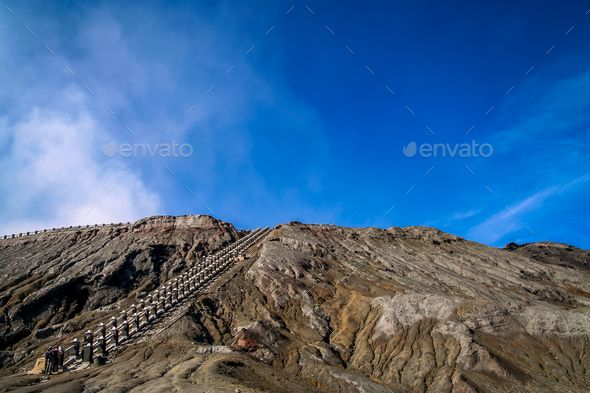 Stairs to Bromo crater - Stock Photo - Images Download here : https://photodune.net/item/stairs-to-bromo-crater/20094423?s_rank=217&ref=Al-fatih