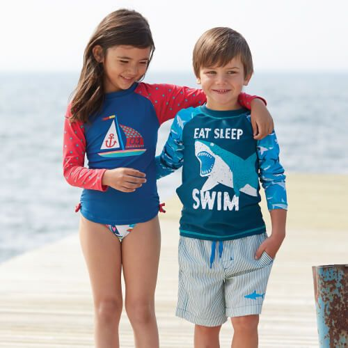 Check out our kids' rash guards collection! #swimming #rashguards #kidsswimwear #swimwear #summer