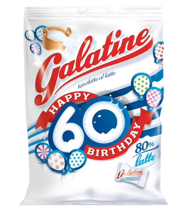 Galatine nel 2016 festeggia un compleanno speciale 60 anni di bontà per le classiche tavolette al latte in un packaging limited-edition e il contest online.