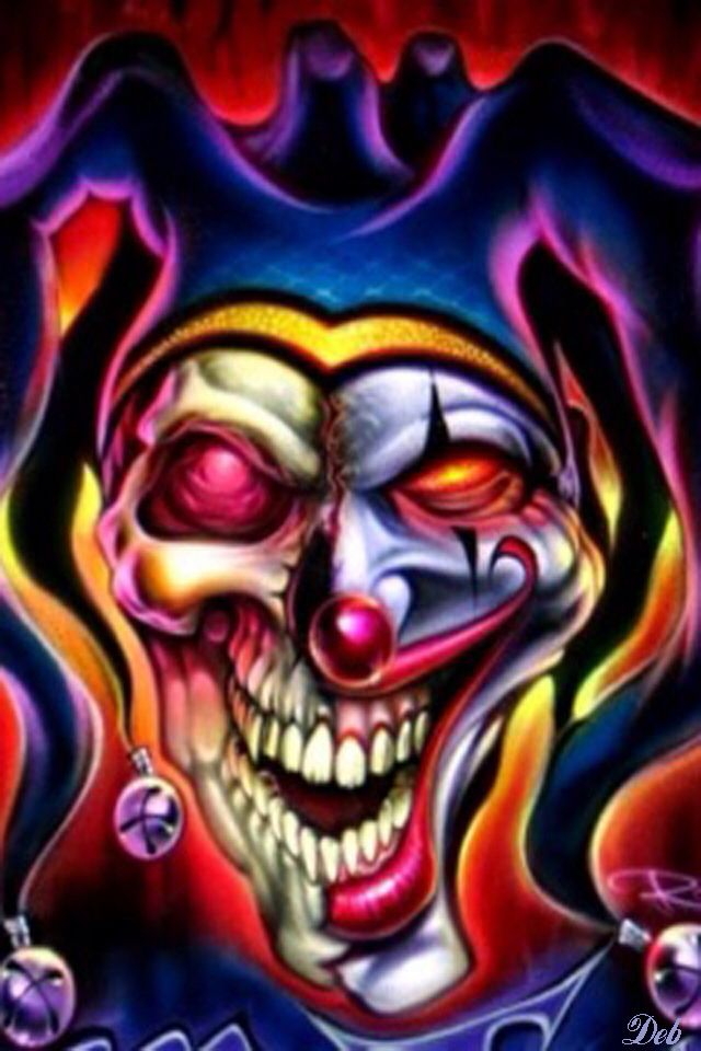Airbrush Joker Wallpaper: EVIL LOOKIN IPHONE WALLPAPER BACKGROUND