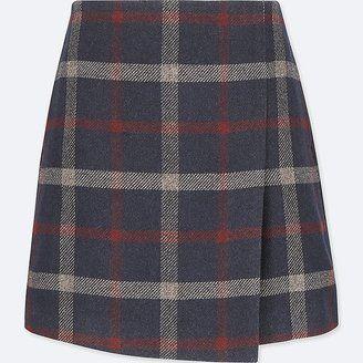 Shop Now - >  https://api.shopstyle.com/action/apiVisitRetailer?id=670421826&pid=uid6996-25233114-59 UNIQLO Women's Wool-blend Wrap Mini Skirt  ...