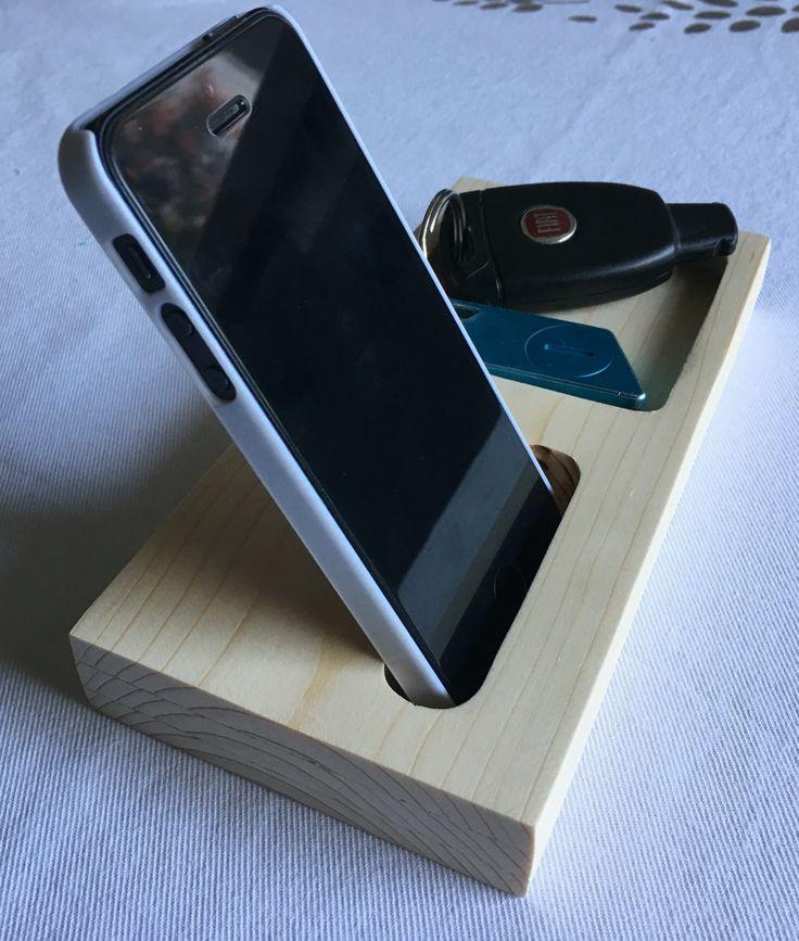 Supporto dock Station per telefono cellulare iPhone con porta oggetti, svuota tasche.