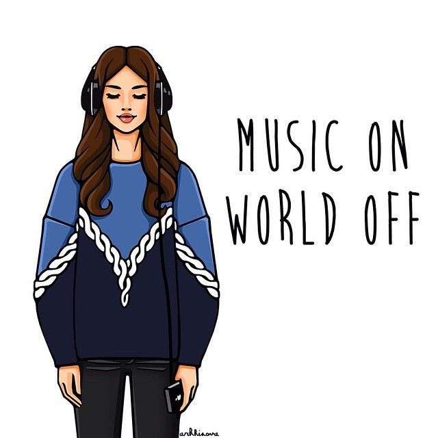 Music ON - World OFF #girlsinbloom #illustration #fashionillustration #art_fashion #иллюстрация #музыка Кейс с этой иллюстрацией можно заказать на сайте или по телефону +7 910 013 74 13 (SMS/WhatsApp).