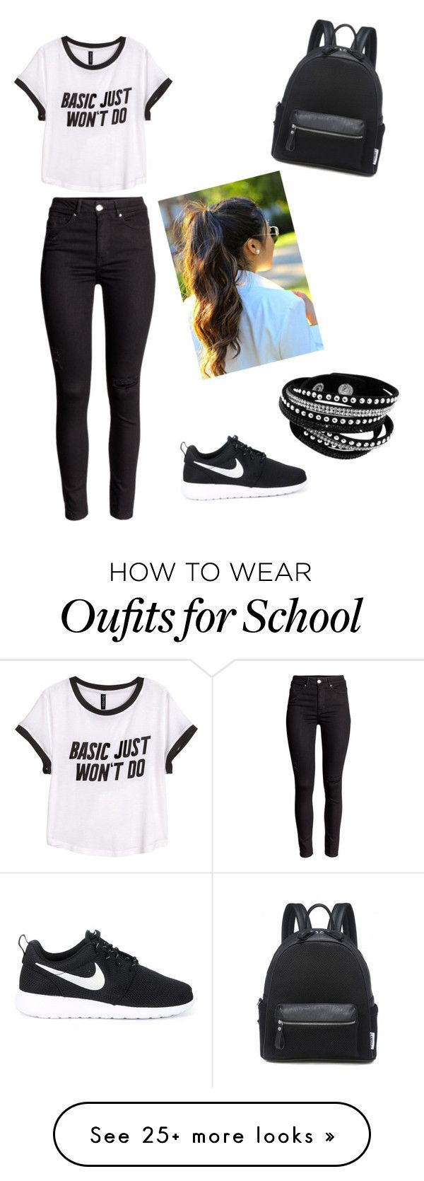 School look by paulinain on Polyvore featuring HM and NIKE Clothing, Shoes & Jewelry : Women : Shoes amzn.to/2kHQg0c