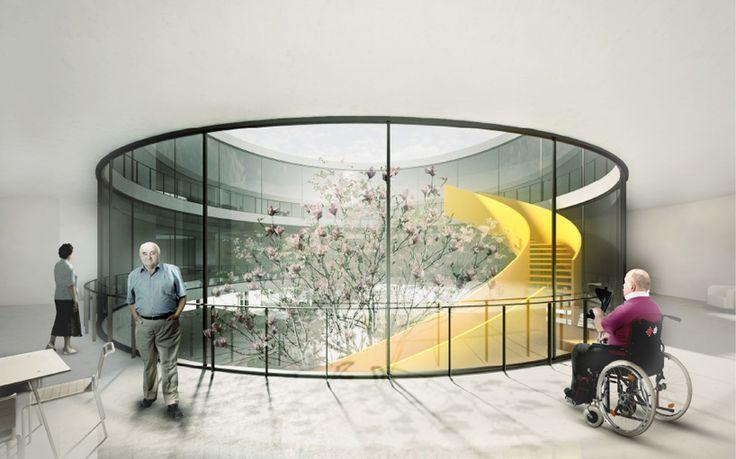 julien de smedt JDS architects sint monica nursing home oostende belgium designboom