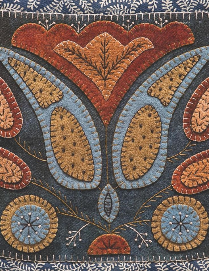 Wool Appliqué Folk Art: Traditional Projects Inspired by 19th-Century American Life: Rebekah L. Smith: 9781607059691: Amazon.com: Books