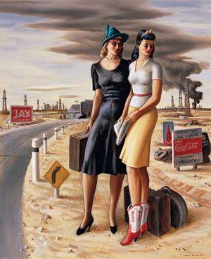 Las niñas del campo petrolífero, 1940