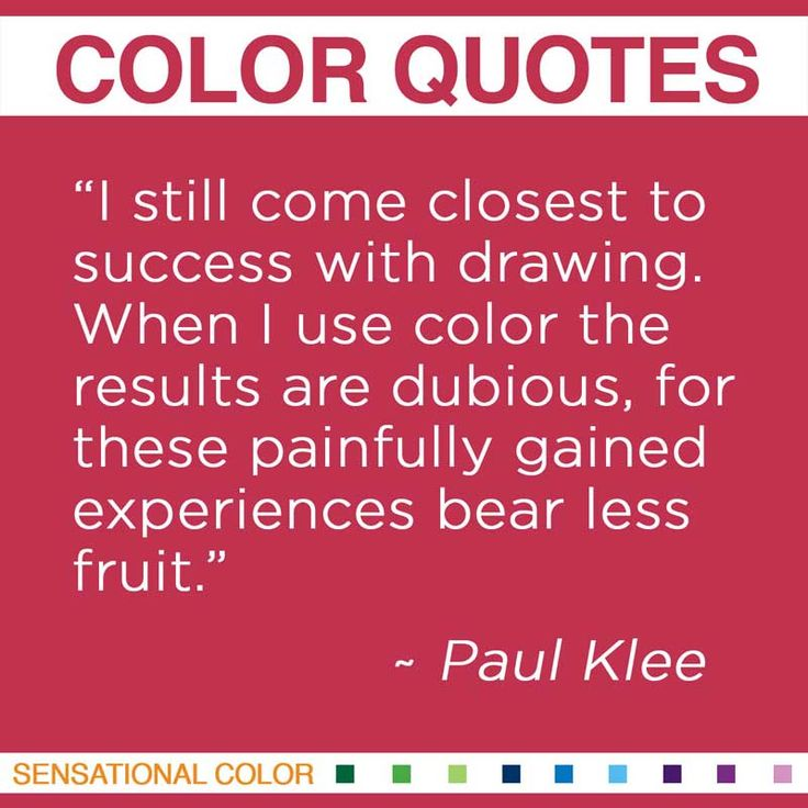 Quotes About Color By Paul Klee - Sensational Color