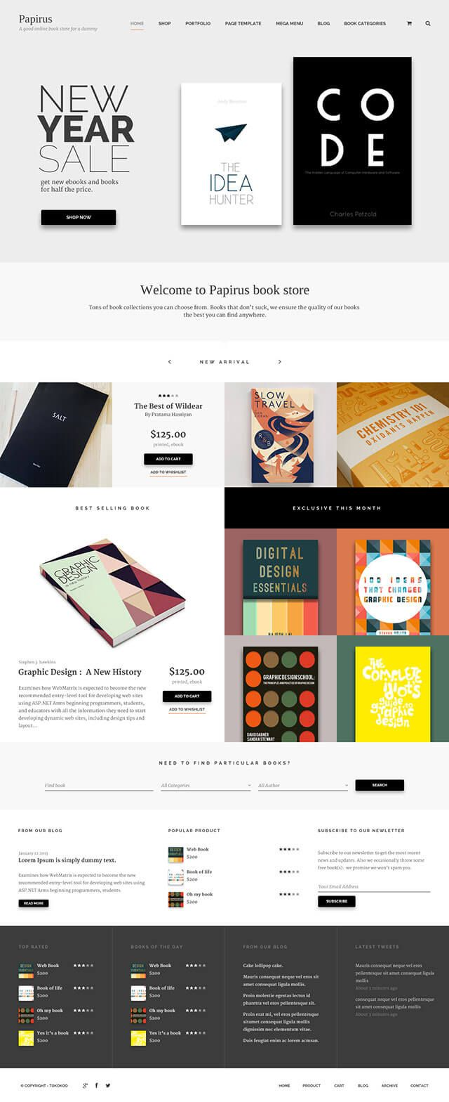 Papirus - WordPress Theme for Authors, eBooks, Digital Downloads Click the link to DEMO | DOWNLOAD NOW