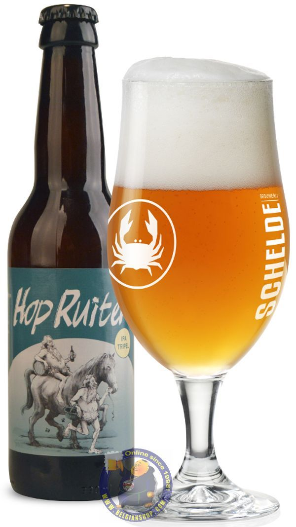 Our New Beer: Scheldebrouwerij Hop Ruiter 8.5°   Available at http://store.belgianshop.com/special-beers/2012-scheldebrouwerij-hop-ruiter-85-13l.html   Hop Ruiter (Hop Rider) has a full, almost rustic malt body, and pairs Belgian yeast-driven flavors with American assertive hoppiness. It is dry hopped, with two noble varieties which add complexity, delicacy and a bit of funk. Orange with golden hue, frothy head, bit murky, gentle carbonation. Aroma is very fruity and hoppy, with pineapple…