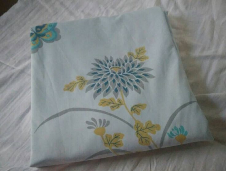Excellent condition Cannon Gold Label full flat sheet butterfly and floral in blue Asian by FadedPrimaDonnaVntg on Etsy