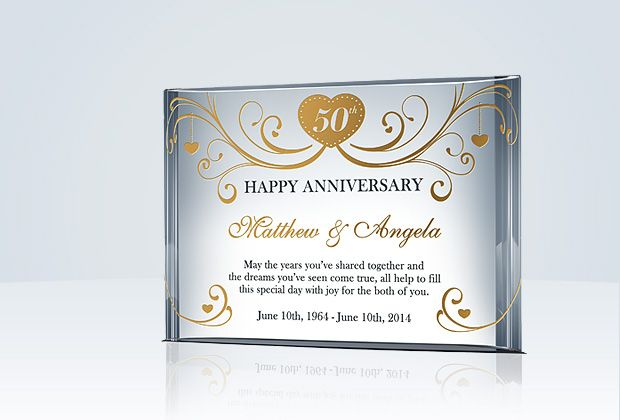 Gifts For Wedding Anniversary For Couple: Happy 50th Anniversary Gift For Couple/Parents
