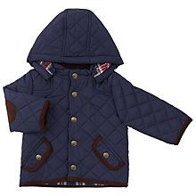 Buy John Lewis Baby Quilted Jacket, Navy Online at johnlewis.com
