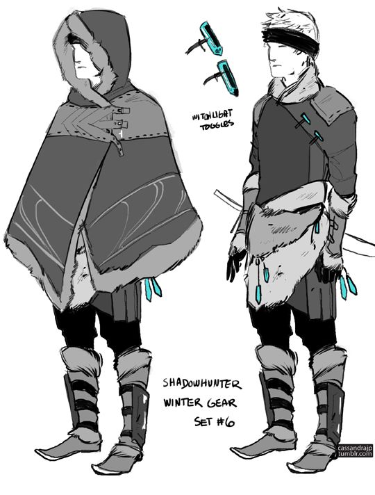 Cassandra Clare, cassandrajp:   Concept art for Shadowhunter Gear. ...