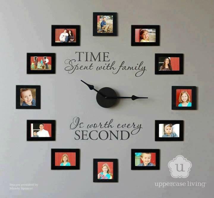 Family Photos Wall Clock