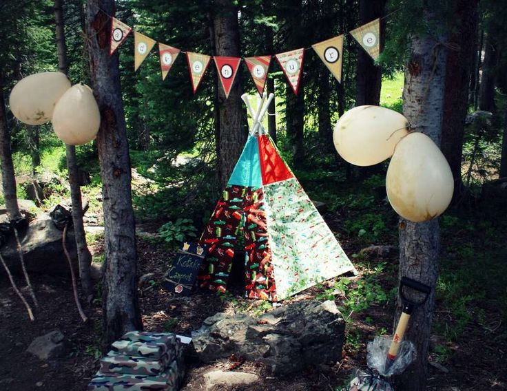 """outdoor camping / Birthday """"Classic BOY'S Campout Party"""""""