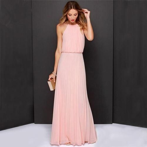 2017 New Casual Summer Sexy Off Shoulder Maxi Women Evening Party Dress Long Beach Boho Chiffon Dresses
