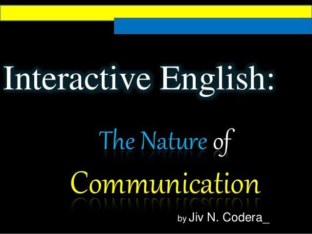 The Nature Of Communication Intercultural Communication Intrapersonal Communication Interpersonal Communication