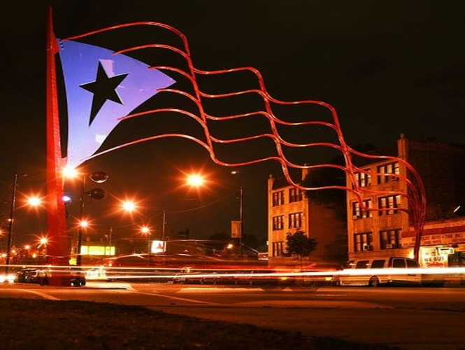 Puerto Rican Flag in Chicago