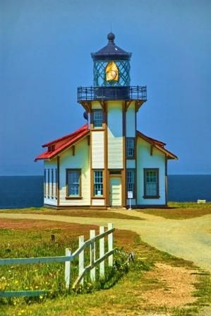 Point Cabrillo Lighthouse, California State Historic Park interesting cliffs and tide pools