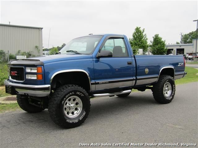 1997 GMC Sierra 1500 SLE Z71 Off Road Lifted 4X4 Regular Cab Long Bed - Richmond, VA -  Davis Auto Sales - www.davis4x4.com or www.davisautosales.com