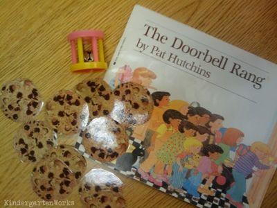KindergartenWorks: retell literacy center activity - The Doorbell Rang