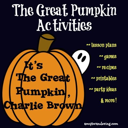 Activities for It's The Great Pumpkin, Charlie Brown
