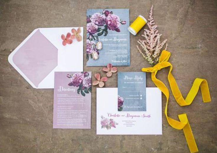 #AppleberryPress. Pink wedding, pink wedding invitation suite, pink and grey wedding, floral wedding stationery, romantic stationery, romantic wedding theme. www.appleberrypress.com