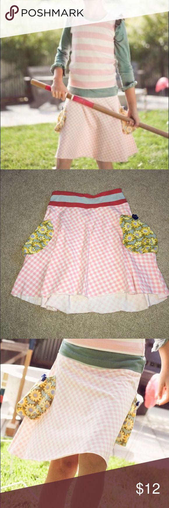 Mj pepper Ann skirt Matilda Jane pepper Ann skirt from serendipity collection. Never worn. Pockets with flower detail. Super cute. Matilda jane Bottoms Skirts