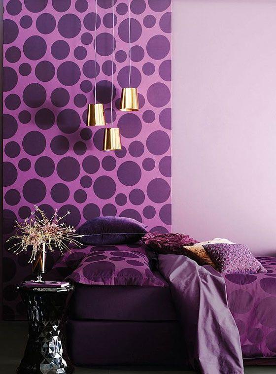 Горошек в интерьере   #горошек #фиолетовый