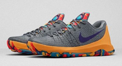 official photos 35717 effbf Nike KD 8 PG County Wolf Grey Court Purple Cool Grey Blue Lagoon