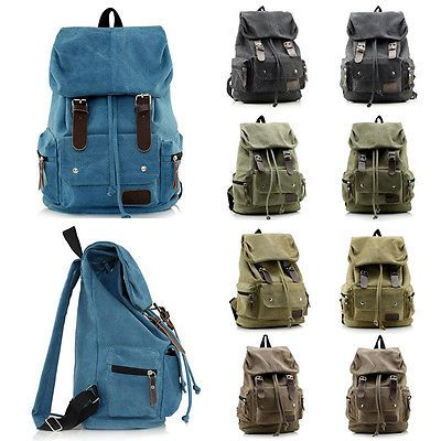 Students Travel Canvas Phone Backpack Bag Women Sports Sack Knapsack Bag Package