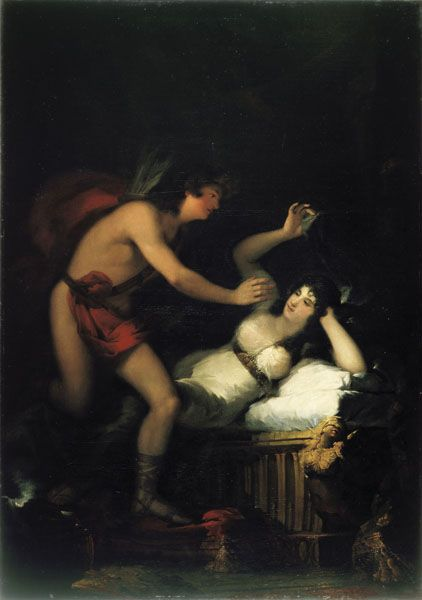 Francisco de Goya- Allegory of Love, Cupid and Psyche, oil painting