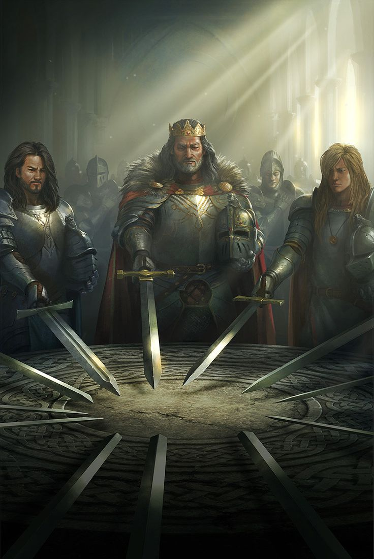 Esta imagem de Camelot é uma ótima referência para qualquer pacto que envolva reis, cavaleiros, guerreiros, paladinos, ou pode ser adaptada para encaixar em outras classes, por exemplo usar cajados no lugar das espadas. Vai da sua criatividade.