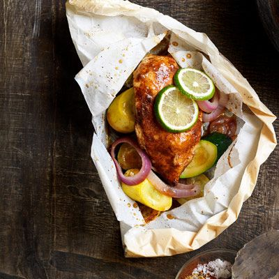 Mexicana chicken baked in parchment paper-Great idea, but not big on flavor. Any suggestions are greatly appreciated!