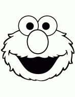 Cute Elmo Face Coloring Page Silhouette Cameo