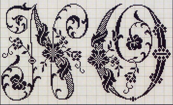 Схема вышивка крестом алфавит